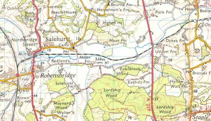 Rother Valley Railway Maps - Old os maps
